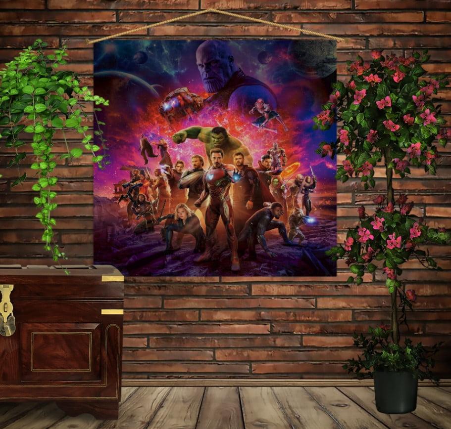 Мобільна картина-постер на тканині з 3D з принтом Mесники Avengers