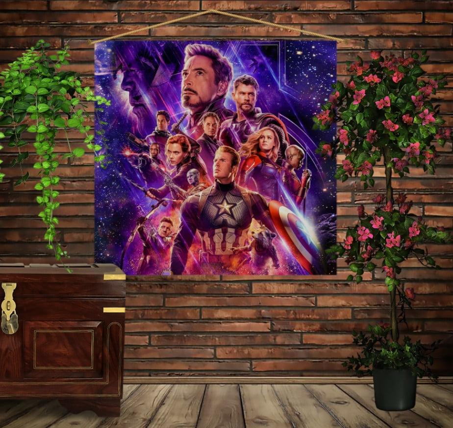 Мобільна картина-постер на тканині з 3D з принтом Mесники Avengers Endgame
