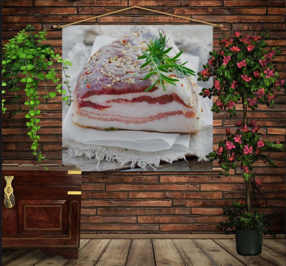 Мобільна картина-постер на тканині з 3D з принтом Сало