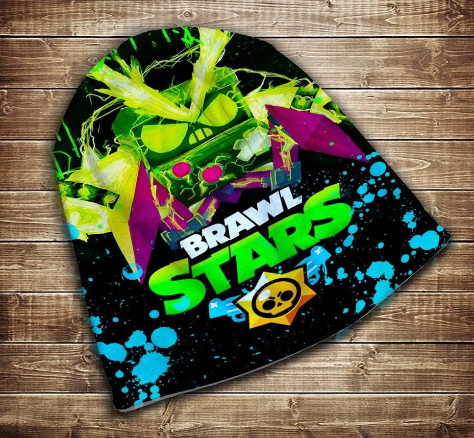 Шапка з 3D принтом Бравл Старс Вірус Неон Brawl Stars Всі розміри
