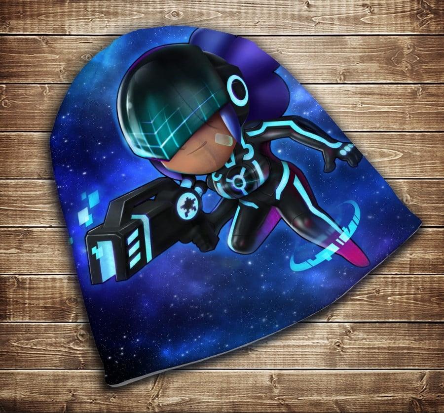 Шапка з 3D принтом Бравл Старс Шеллі  SHELLY POLICE Brawl Stars Всі розміри