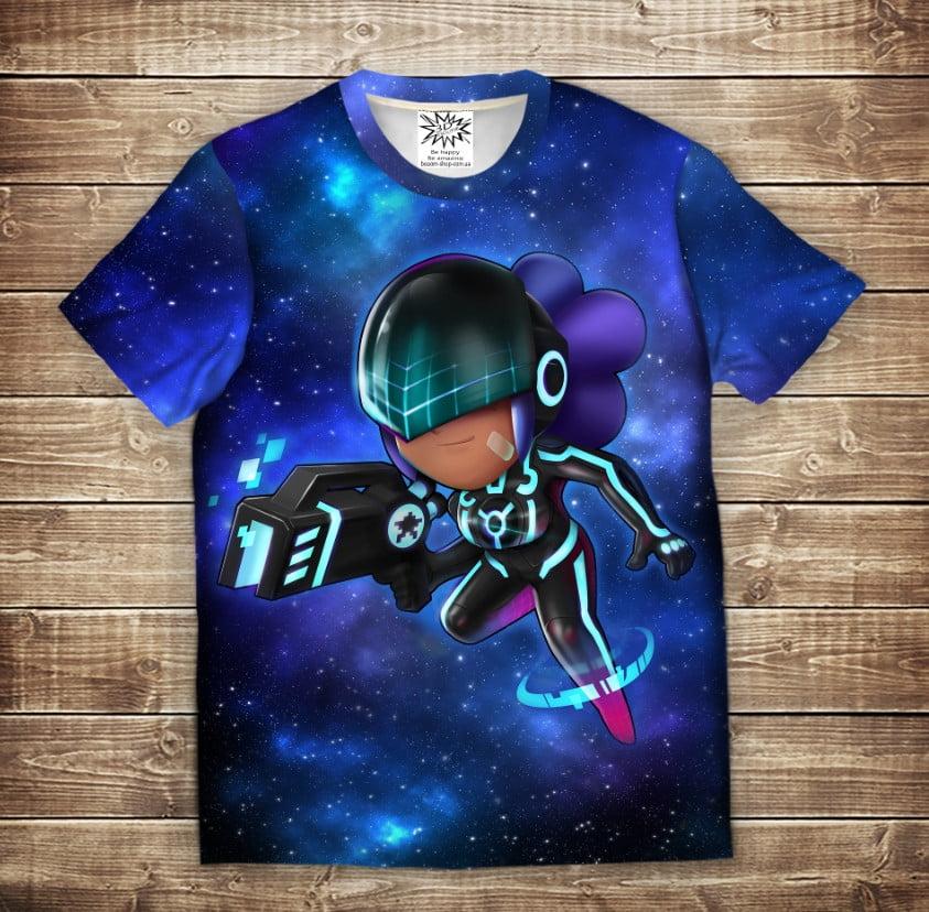 Футболка 3D дитяча SHELLY POLICE SPACE Brawl Stars