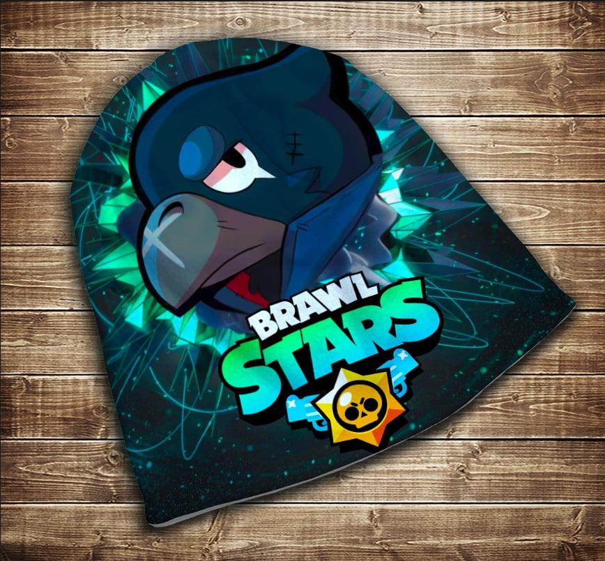 Шапка з 3D принтом Бравл Старс Ворон Face Brawl Stars Всі розміри