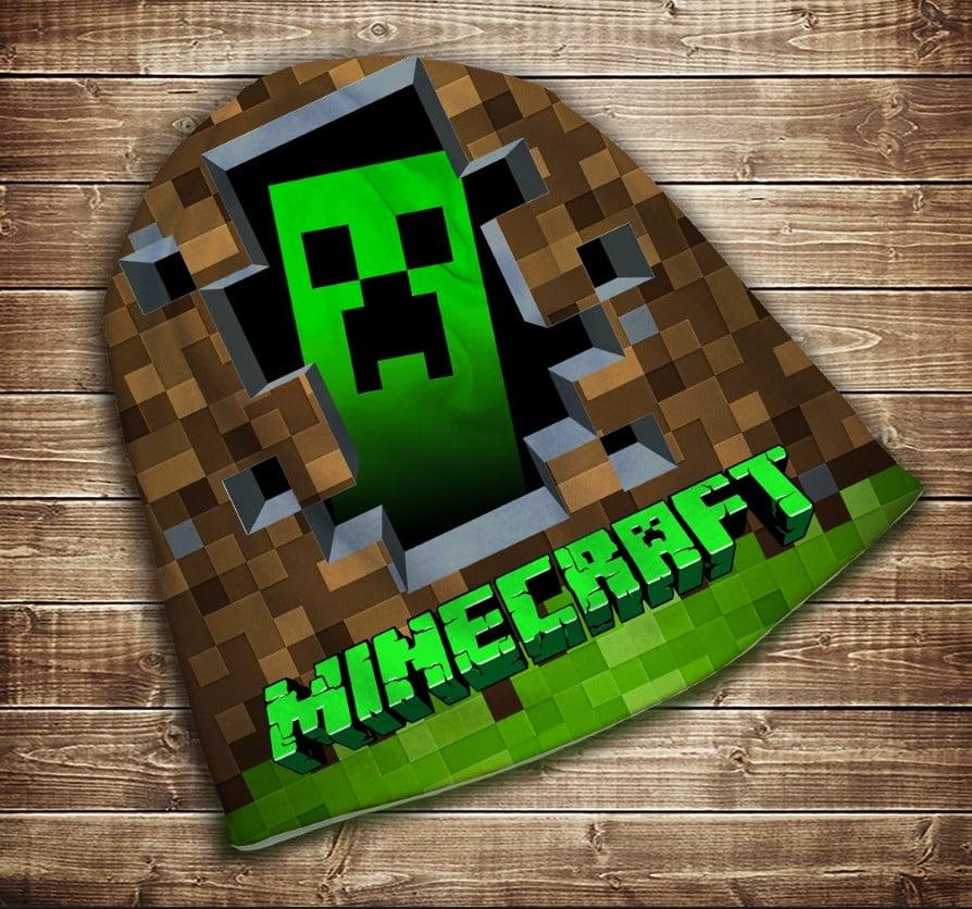Шапка з 3D принтом  Minecraft Logo Всі розміри