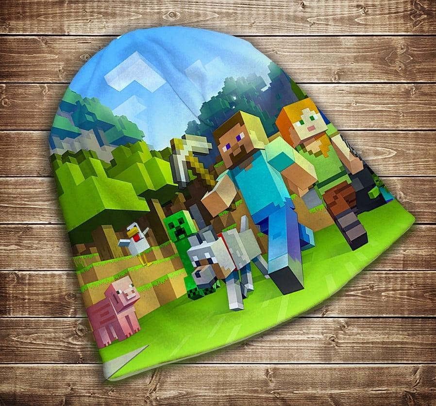 Шапка з 3D принтом  MINECRAFT WORLDS/Мир Майнкрафта Всі розміри