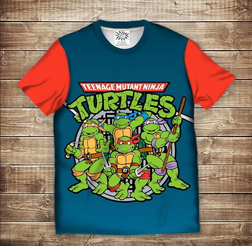 Футболка 3D Turtles 2