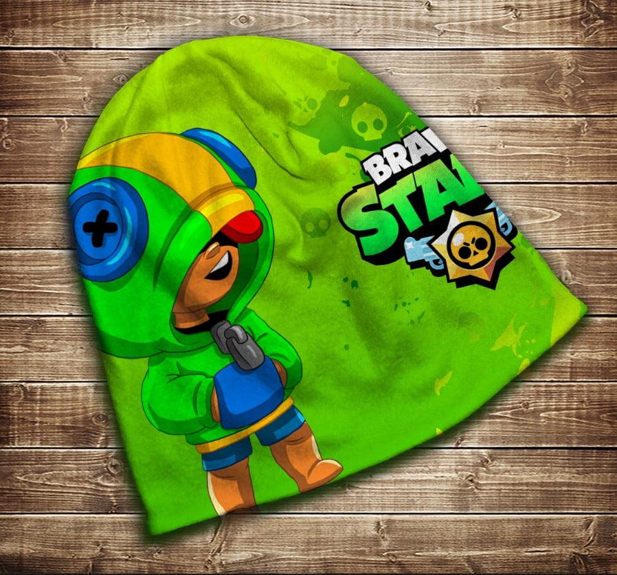 Шапка з 3D принтом Бравл Старс Leon Face Brawl Stars Всі розміри