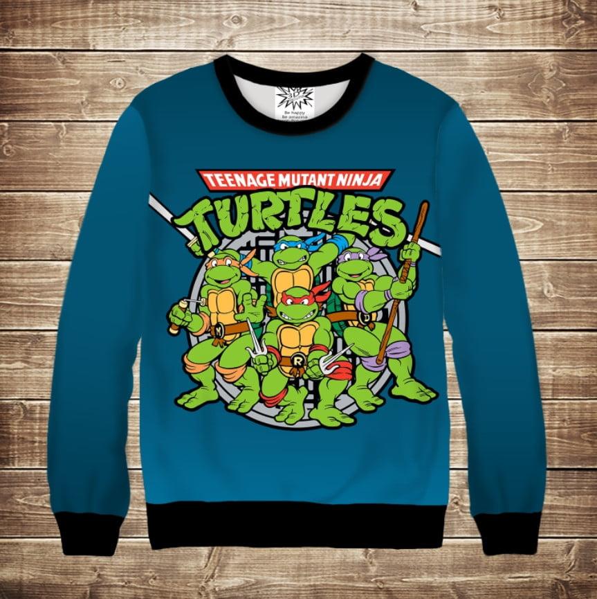 Свитшот 3D Turtles 2