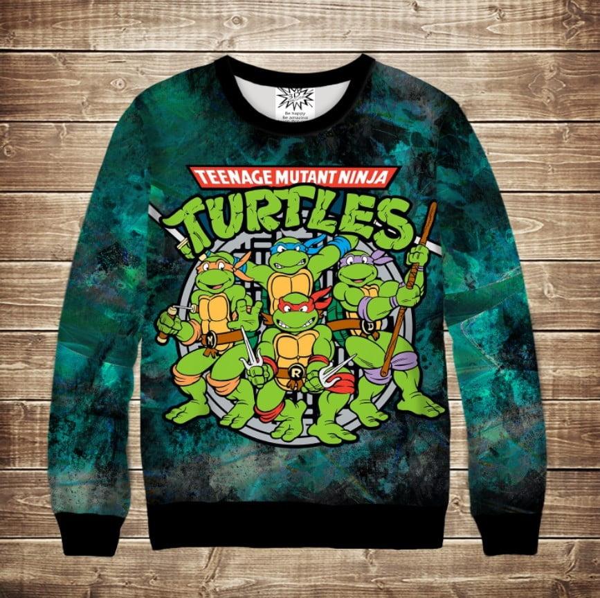 Свитшот 3D Turtles
