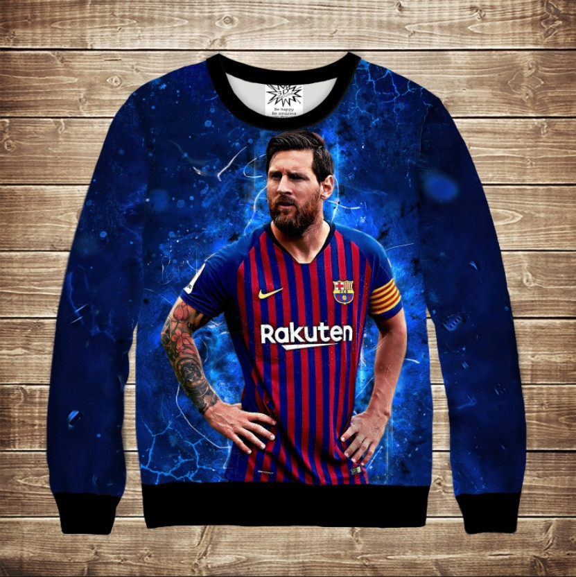 Світшот з 3D принтом Messi The Best