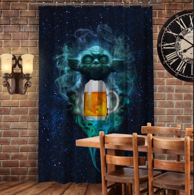 Штори 3D з принтом Йода Джин і пиво. Обери свою сторону