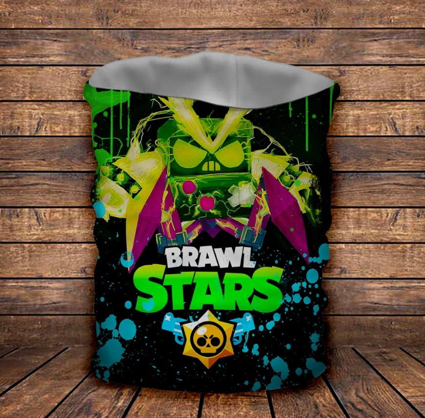 Бафф з 3D принтом Brawl Stars Virus 8 bit Neon