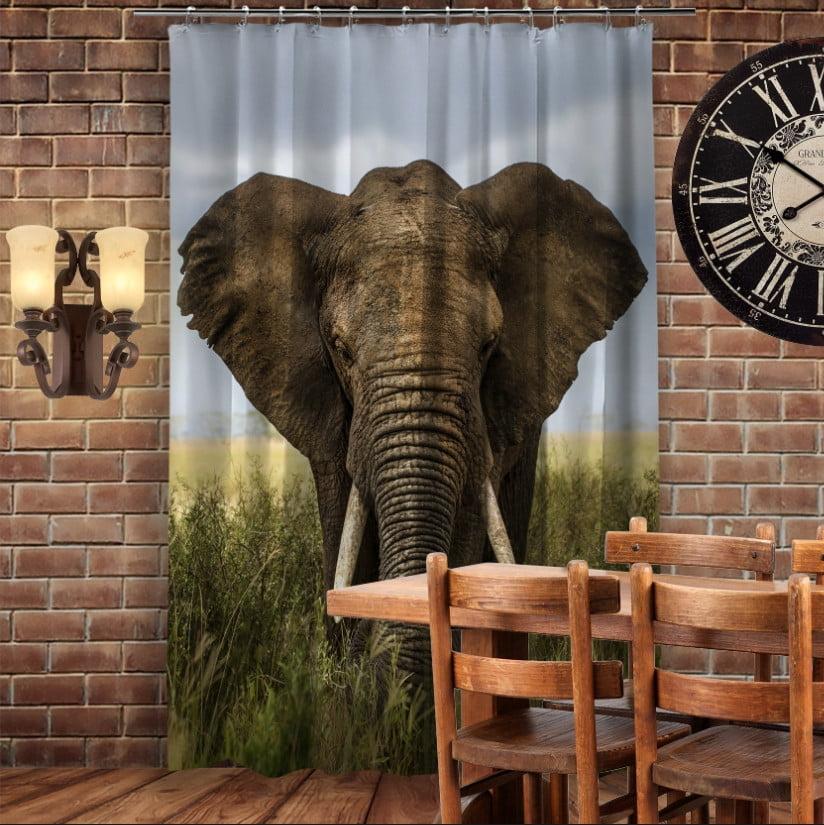 Штори 3D з принтом- Слон