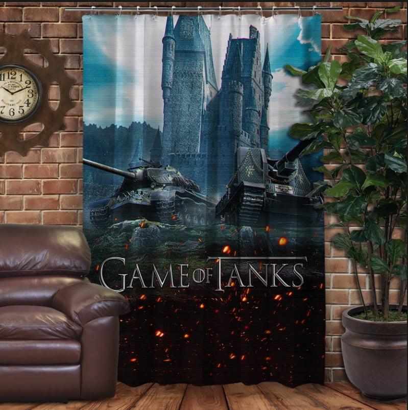 Штори 3D з принтом- Танки Game of tanks