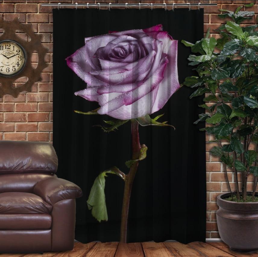 Штори 3D з принтом- Тендітна троянда