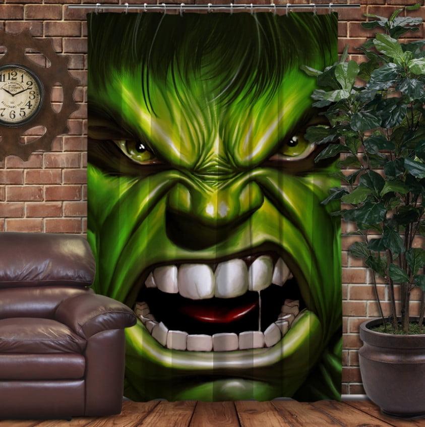 Штори 3D з принтом- Халк вільний і злий