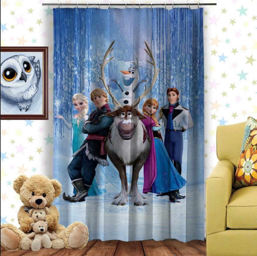 Штори 3D з принтом- Frozen. Холодне серце Всі герої