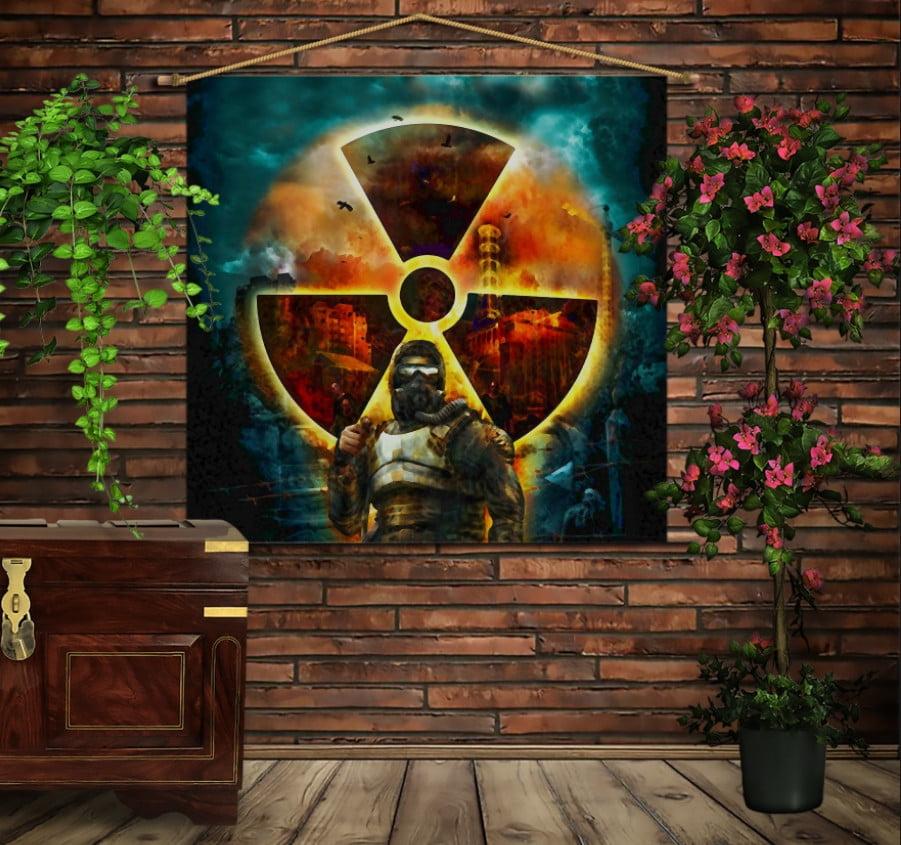 Мобільна картина-постер на тканині з 3D з принтом S.T.A.L.K.E.R Anomaly