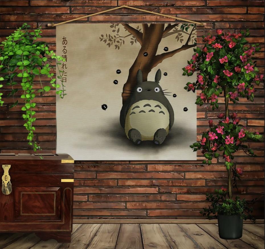 Мобільна картина-постер на тканині з 3D з принтом Тоторо
