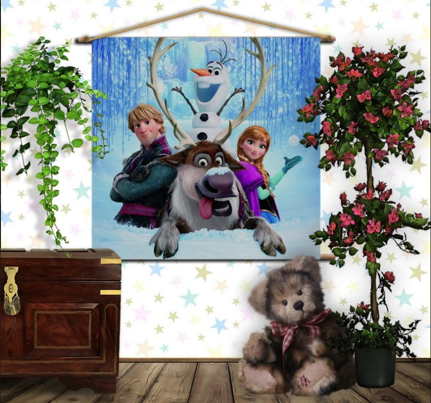Мобільна картина-постер на тканині з 3D з принтом Frozen. Анна