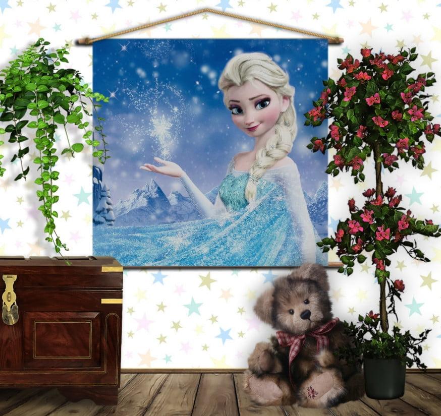 Мобільна картина-постер на тканині з 3D з принтом Frozen. Ельза