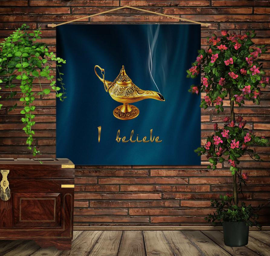 Мобільна картина-постер на тканині з 3D з принтом Чарівна Лампа Алладина