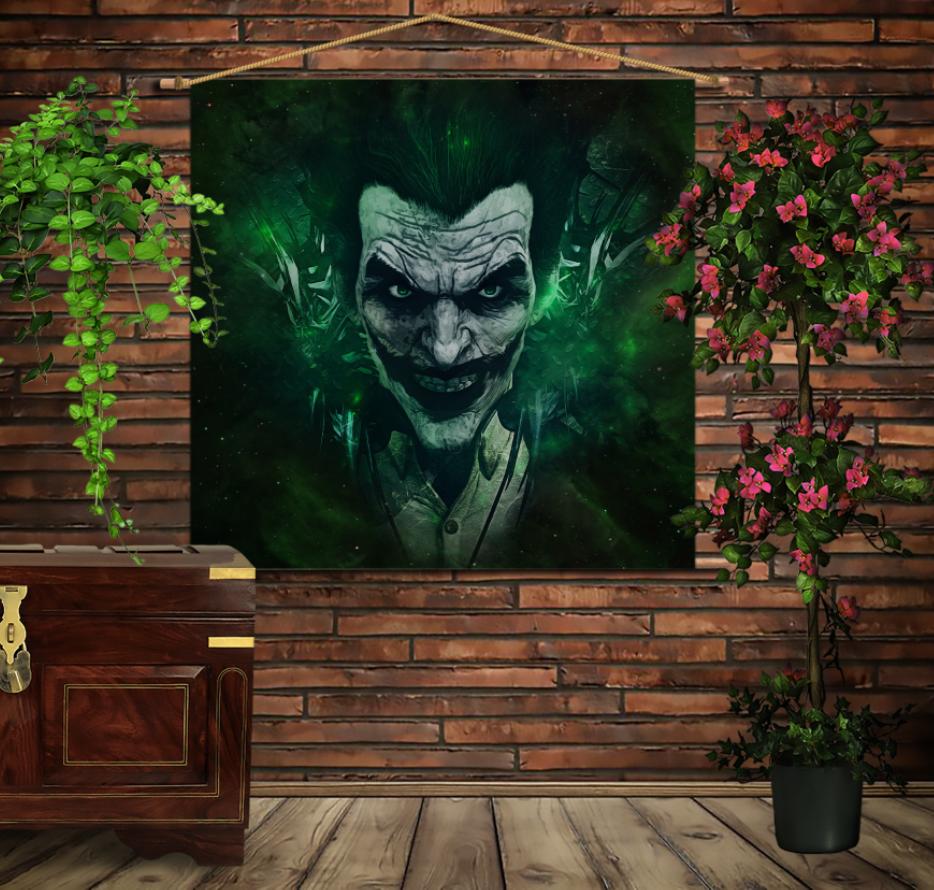 Мобільна картина-постер на тканині з 3D з принтом Зелений Джокер