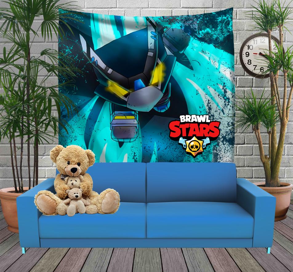 Панно з 3D з принтом Бравл Старс Ворон Меха Brawl Stars