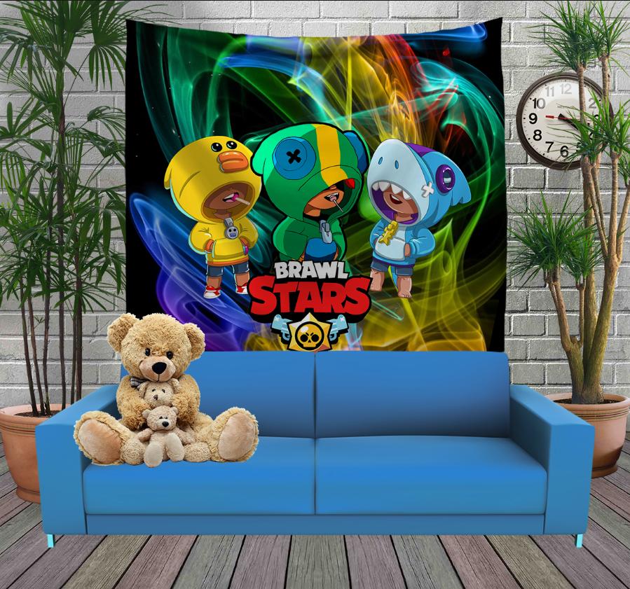 Панно з 3D з принтом Бравл Старс Трилеон Brawl Stars