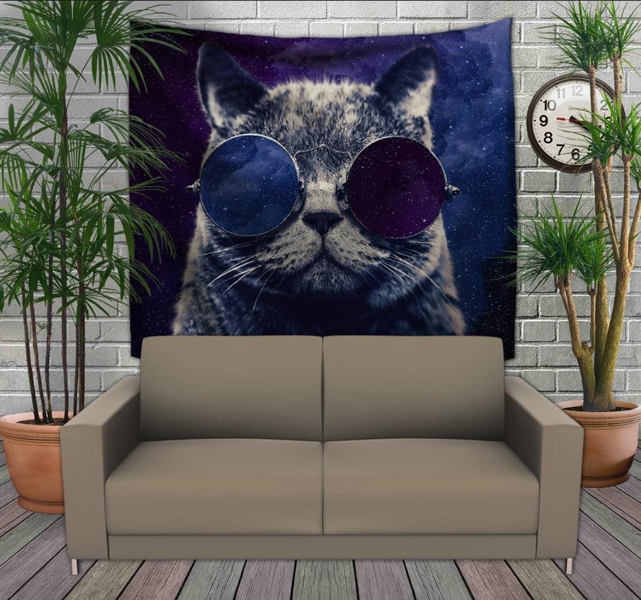 Панно з 3D з принтом Космічний кіт