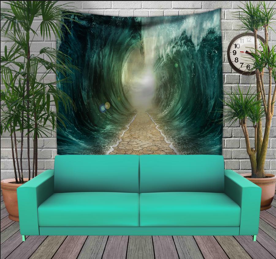 Панно з 3D з принтом Дорога між хвиль по дну океана