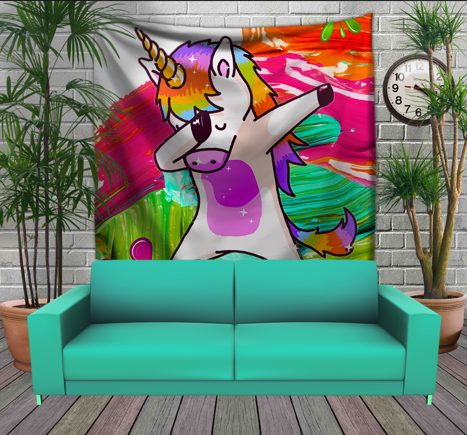 Панно з 3D з принтом Unicorn Dab
