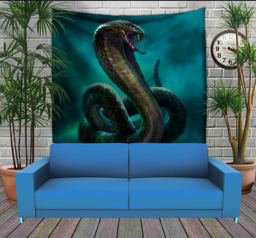 Панно з 3D з принтом Мystic cobra