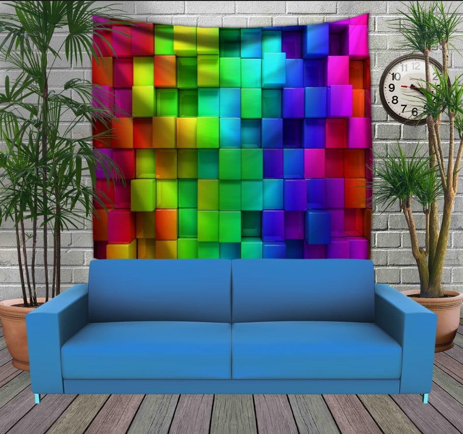 Панно з 3D з принтом Кольорові кубики