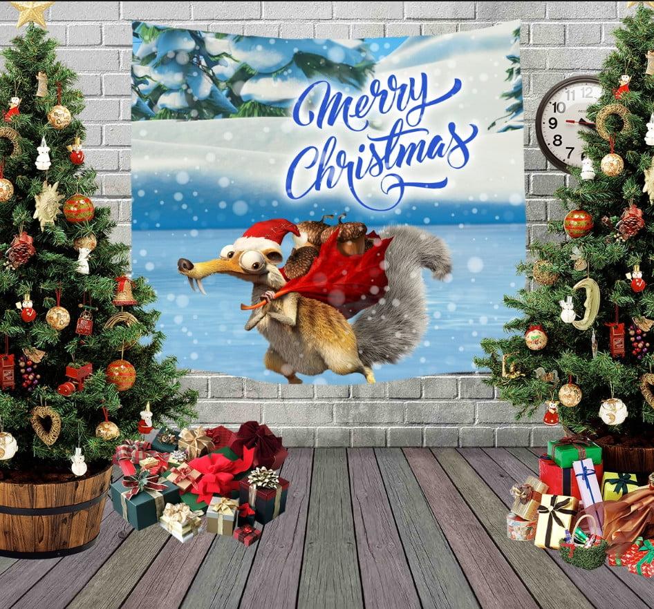 Панно з 3D з принтом Різдвяний Скрет