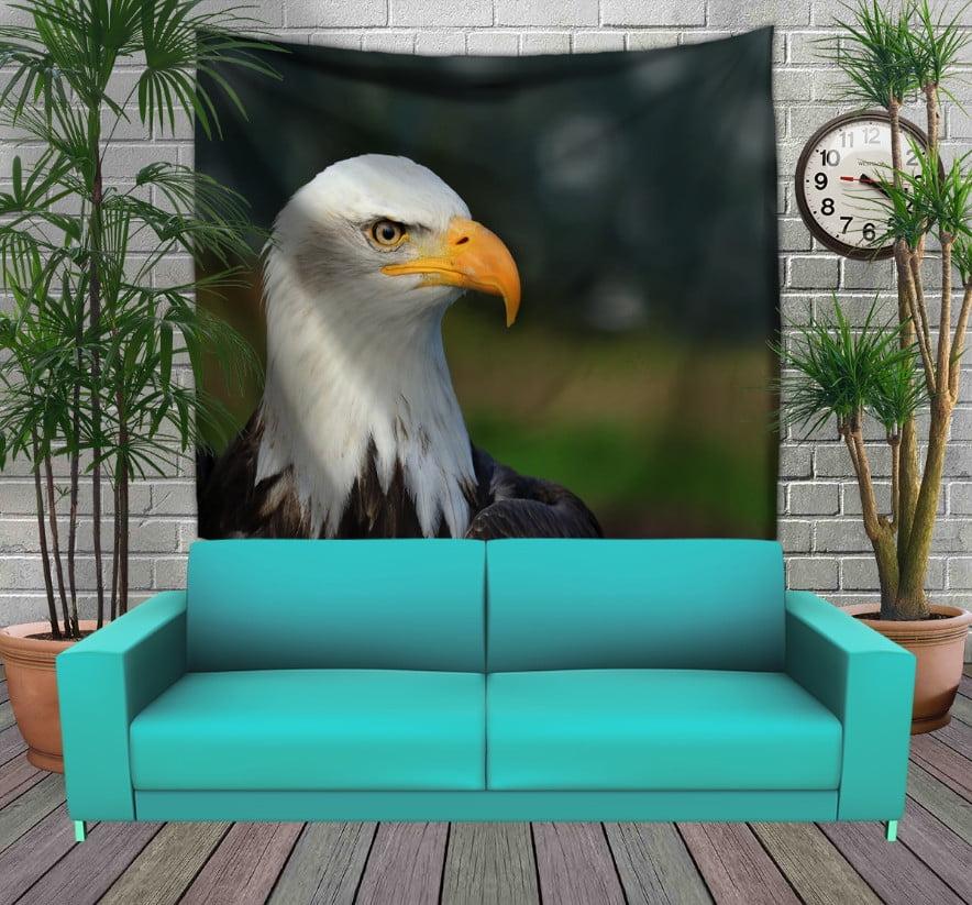Панно з 3D з принтом Big Face Eagle