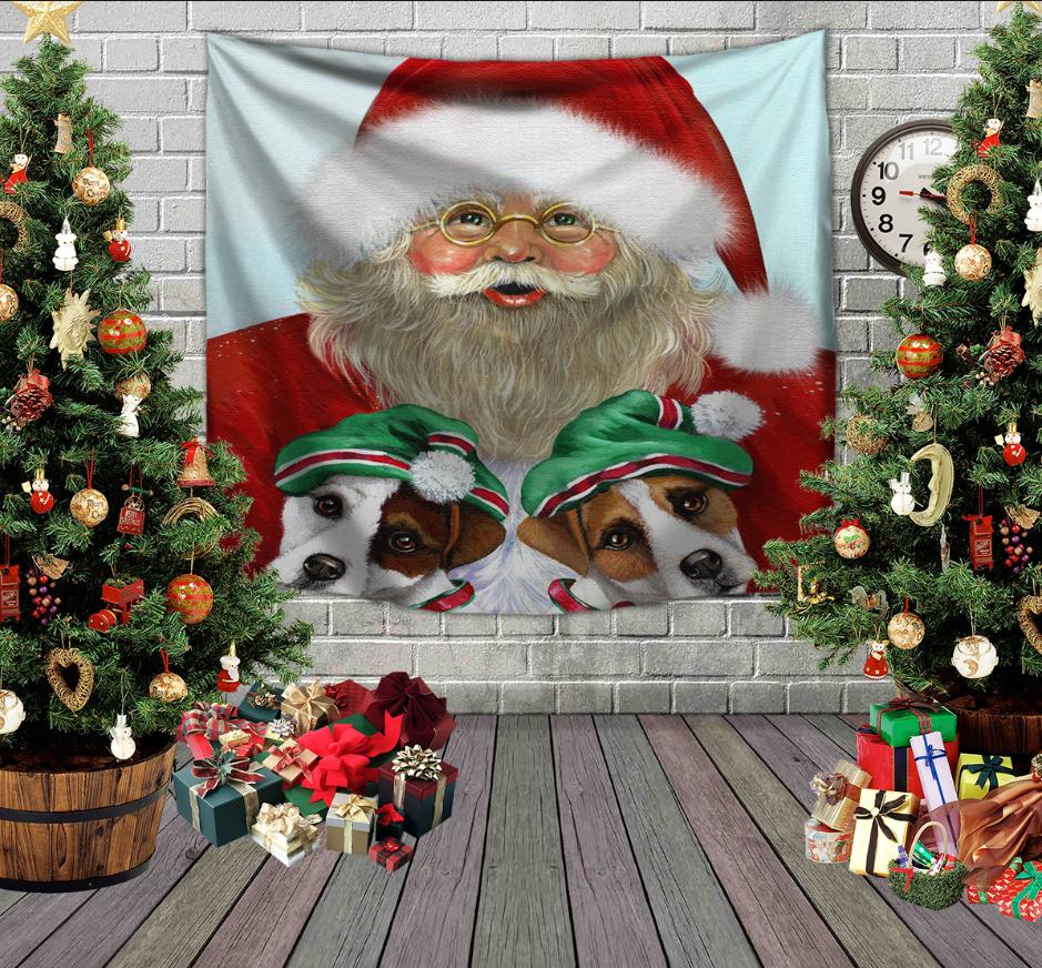 Панно з 3D з принтом Санта і ельфи