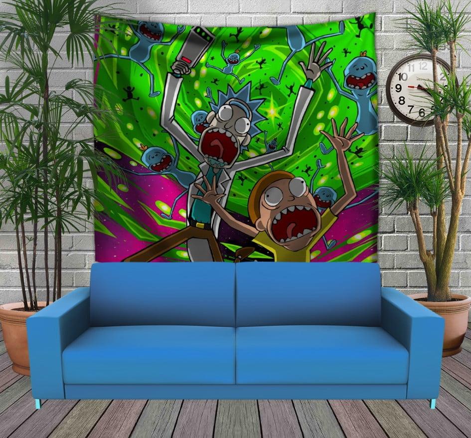 Панно з 3D з принтом Рік і Морті Кислота