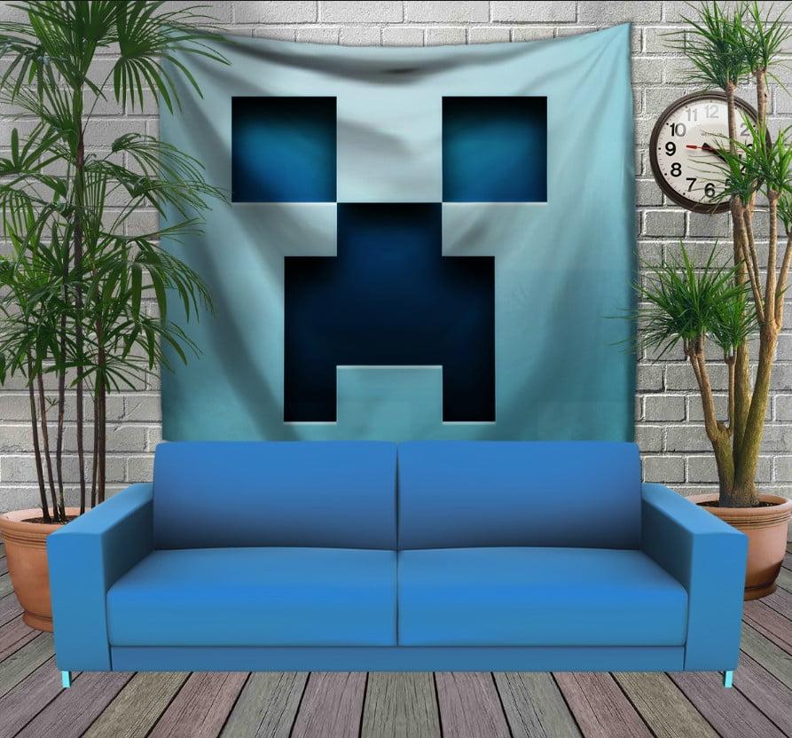 Панно з 3D з принтом Minecraft /Майнкрафт BLUE