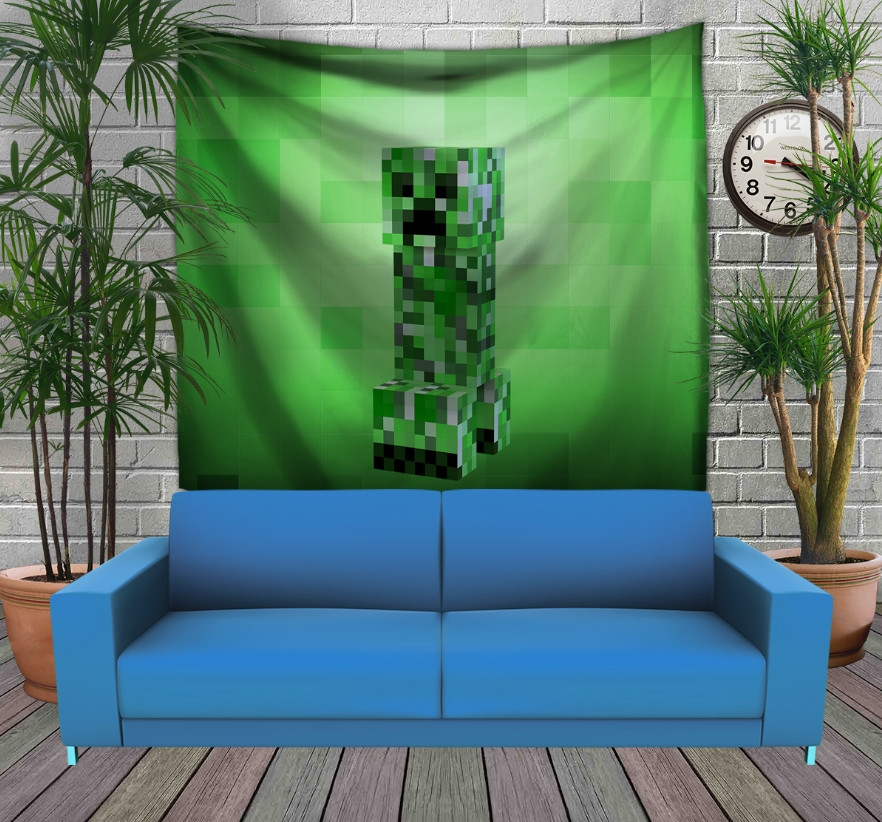 Панно з 3D з принтом  Minecraft creeper big