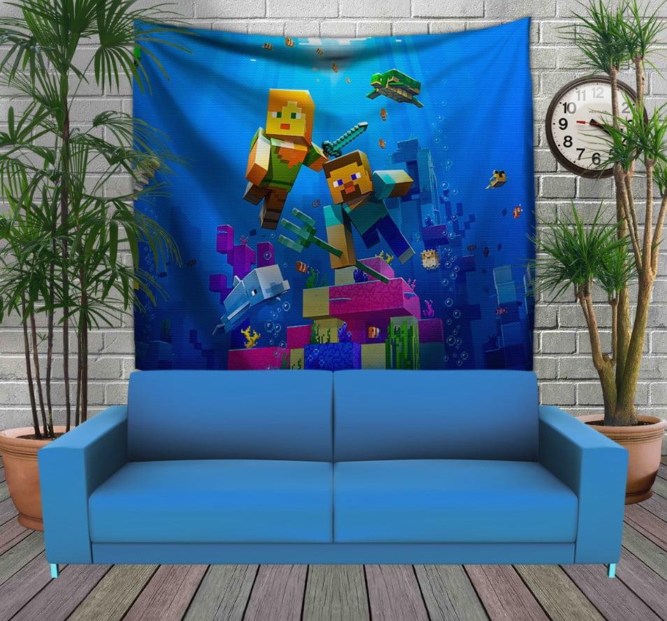Панно з 3D з принтом  Майнкрафт підводний світ