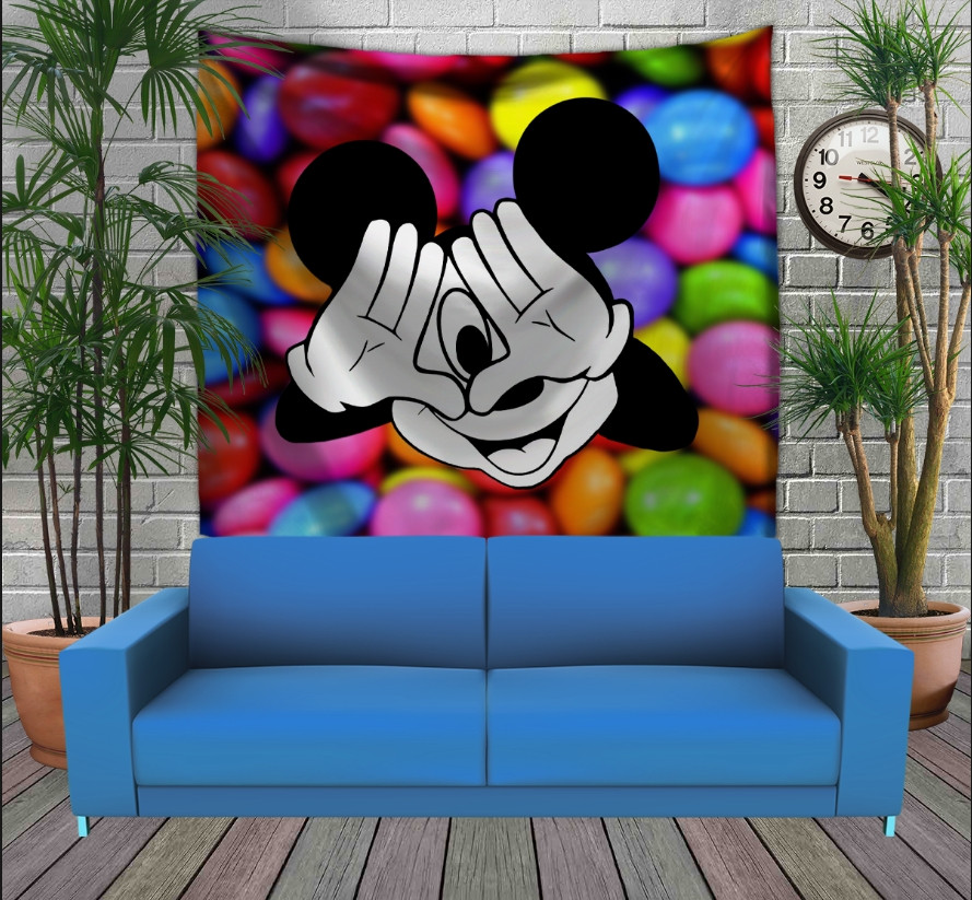 Панно з 3D з принтом Міккі Маус і цукерки