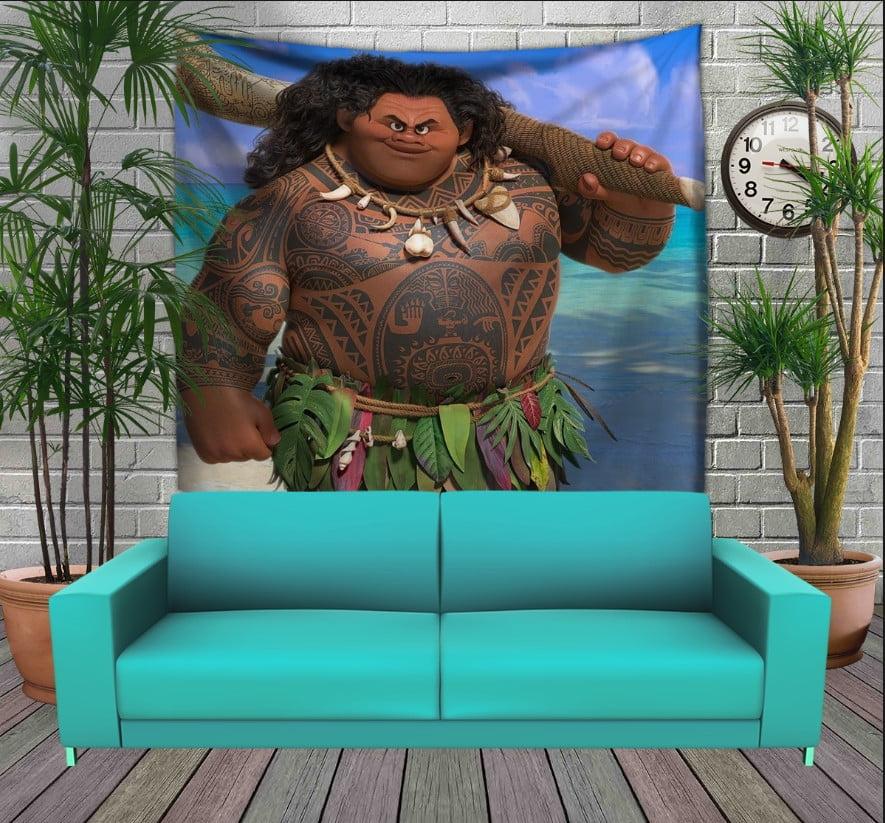 Панно з 3D з принтом Мауі (Моана)