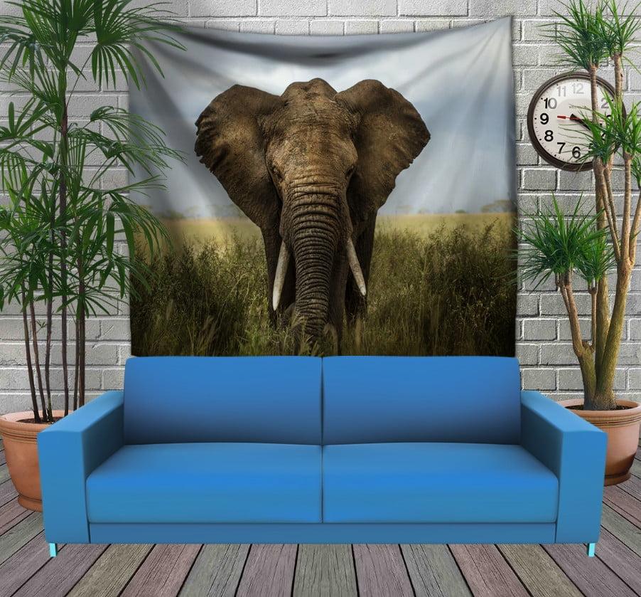 Панно з 3D з принтом Слон