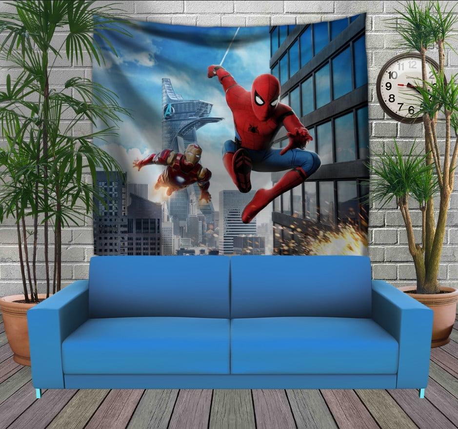 Панно з 3D з принтом Спайдермен і Залізна Людина