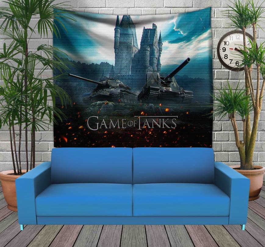 Панно з 3D з принтом Танки Game of tanks