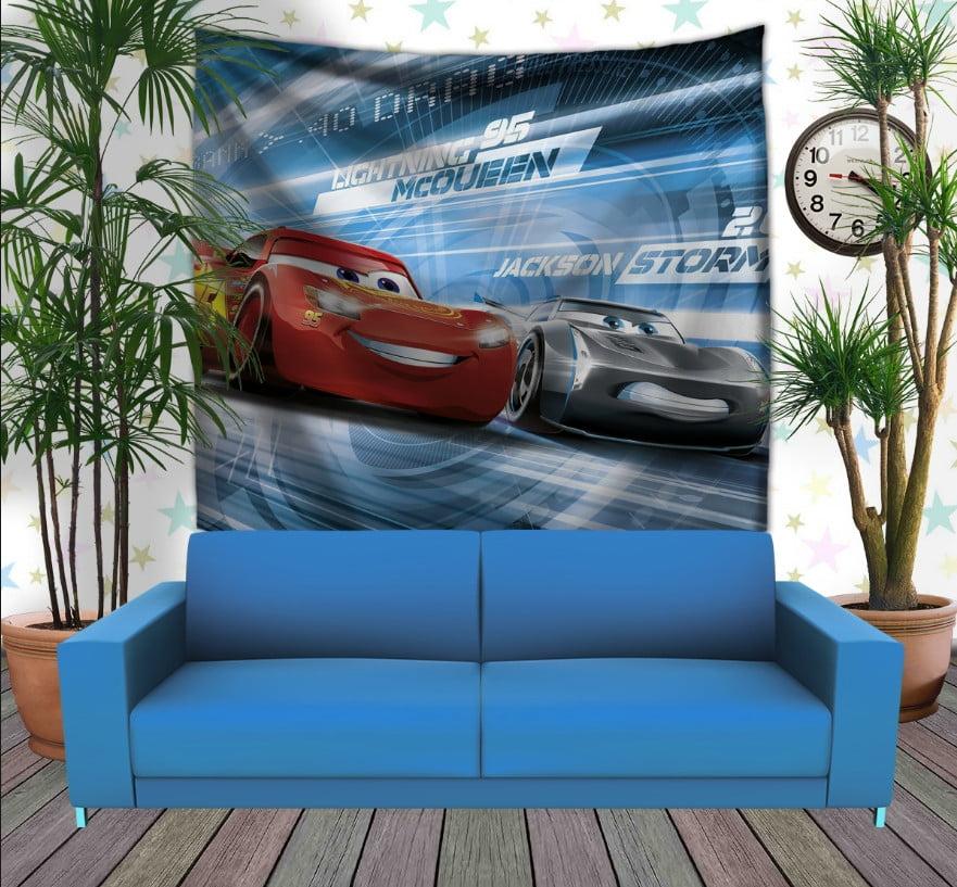 Панно з 3D з принтом Cars Тачки Блискавка Маквін та Джексон Шторм