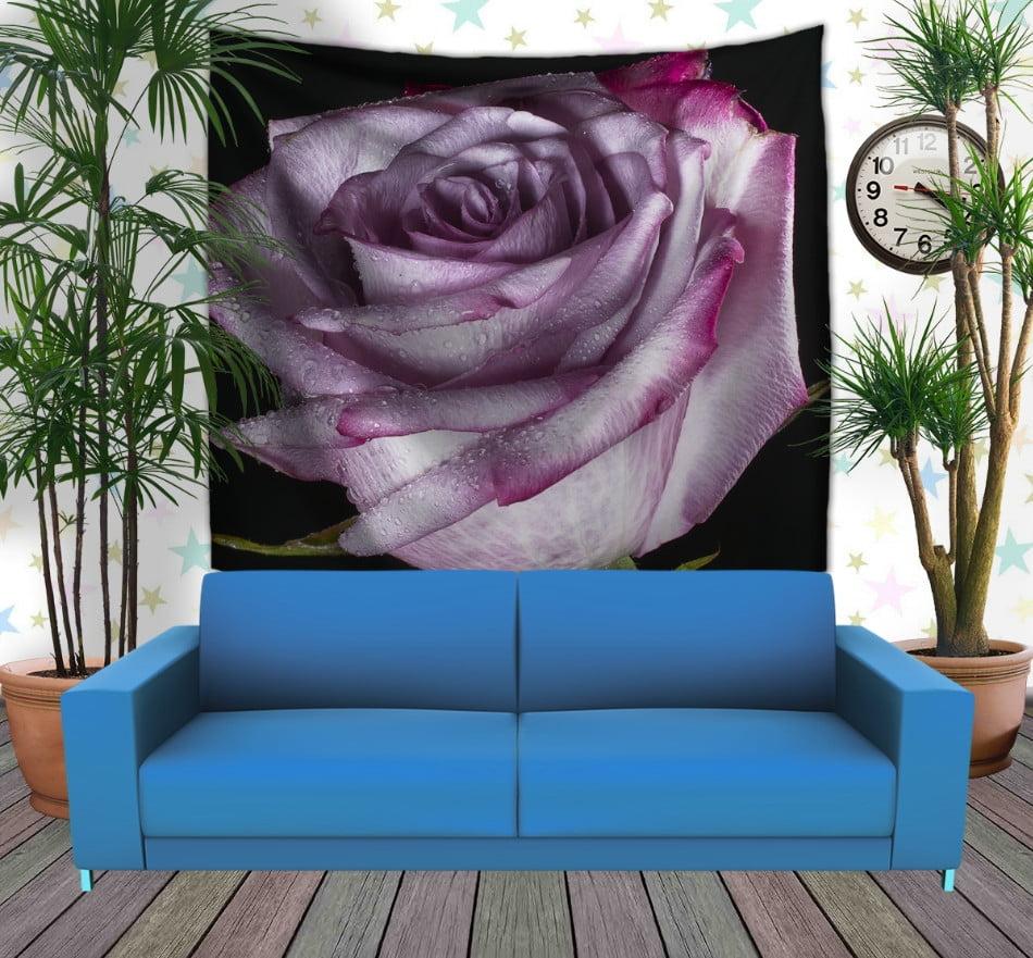 Панно з 3D з принтом Тендітна троянда