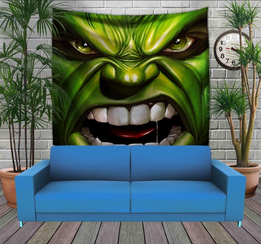 Панно з 3D з принтом Халк вільний і злий