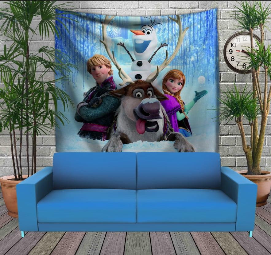 Панно з 3D з принтом  Frozen. Анна